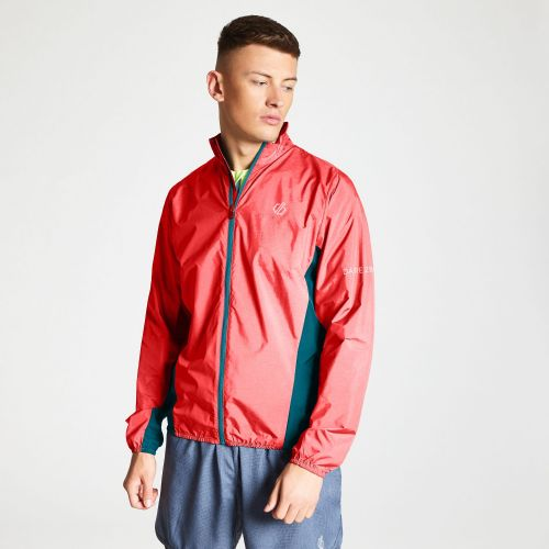 Dare2b Men's Ablaze Lightweight Windshell Jacket Fiery Red Ocean